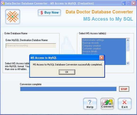 MDB to MySQL Converter